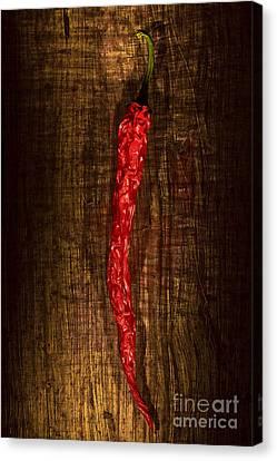 Dried Pepperoni Canvas Print by Shawn Hempel