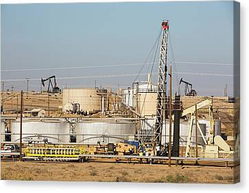 Taft Canvas Print - Drilling For Oil by Ashley Cooper