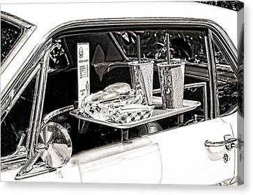 Drive-in Canvas Print by Rudy Umans