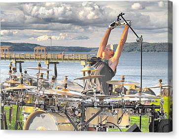 Canvas Print featuring the photograph Drummer by Matthew Ahola