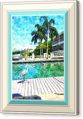 Dry Dock Bird Walk - Digitally Framed Canvas Print by Susan Molnar