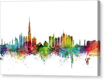 Khalifa Canvas Print - Dubai Skyline by Michael Tompsett