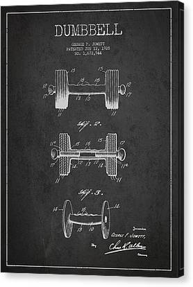 Technical Canvas Print - Dumbbell Patent Drawing From 1927 by Aged Pixel