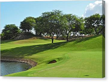Canvas Print featuring the photograph Dunes Of Maui Lani Golf Course  by Kirsten Giving