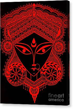Durga Maa Canvas Print by Sketchii Studio