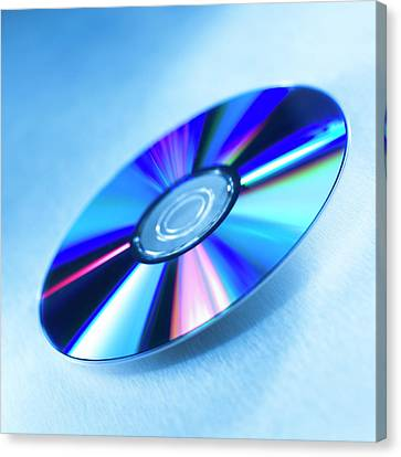 Disc Canvas Print - Dvds by Science Photo Library