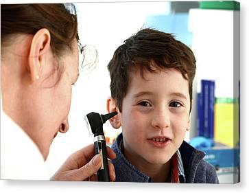 Ear Examination Canvas Print