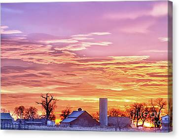 Early Country Morning Sunrise Canvas Print by James BO  Insogna