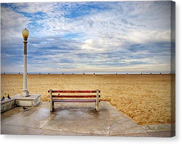 Early Morning At The Beach Canvas Print by Chuck Staley