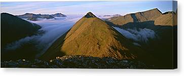 Early Morning Light On Buachaille Etive Canvas Print by Panoramic Images