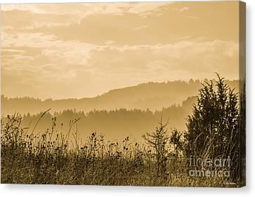 Early Morning Vitosha Mountain View Bulgaria Canvas Print by Jivko Nakev