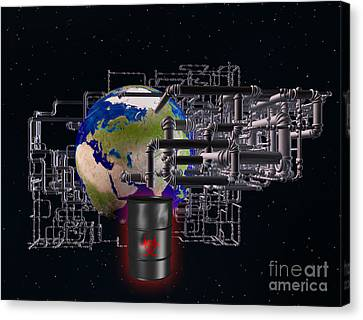 Earth And Pipes Canvas Print by Scott Camazine