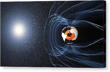 Earths Magnetic Field Canvas Print