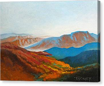 East Fall Blue Ridge Mountains 2 Canvas Print