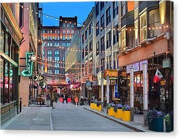 The Queen Of Bourbon Street Canvas Print - East Fourth Street In Cleveland by Frozen in Time Fine Art Photography