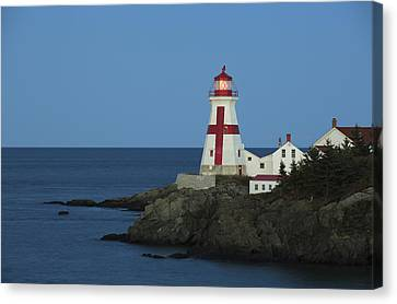 East Quoddy Lighthouse Canvas Print - East Quoddy Lighthouse At Dusk by Scott Leslie