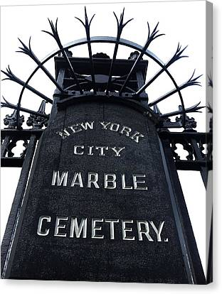 East Village Cemetery Canvas Print by Natasha Marco