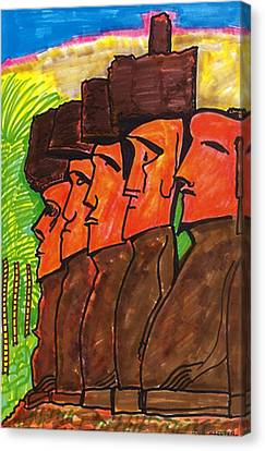 Easter Island Canvas Print by Don Koester