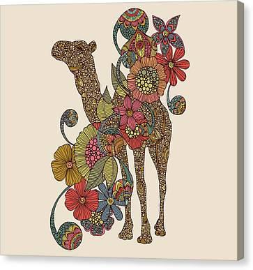 Camel Canvas Print - Easy Camel by Valentina