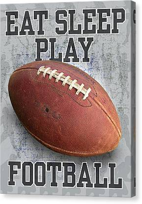 Eat Sleep Play Football Canvas Print by Jim Baldwin