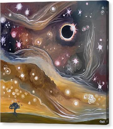 Eclipse Canvas Print by Cedar Lee