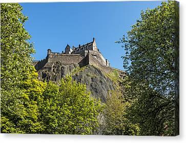 Vintage River Scenes Canvas Print - Edinburgh Castle by Svetlana Sewell