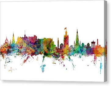 Scotland Canvas Print - Edinburgh Scotland Skyline by Michael Tompsett