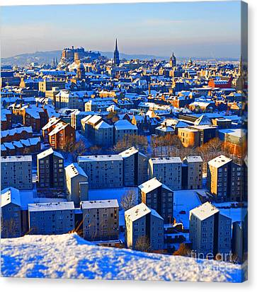 Edinburgh Winter Canvas Print