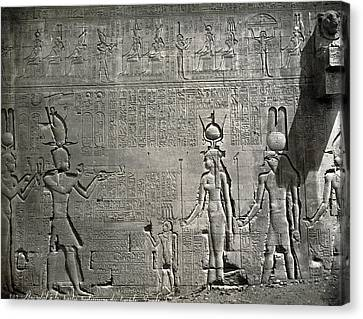 Dendera Canvas Print - Egypt Temple Of Hathor by Granger