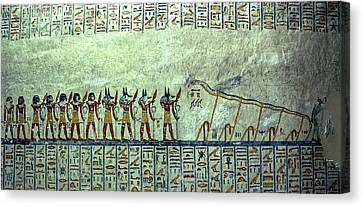 Egyptian Hieroglyphs On The Wall, Tomb Canvas Print by Panoramic Images