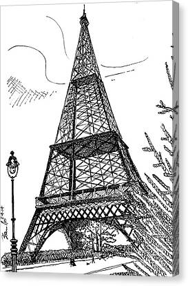 Eiffel Canvas Print by Andrew Cravello