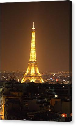 Eiffel Tower - Paris France - 01131 Canvas Print by DC Photographer