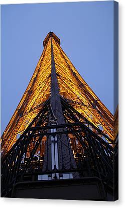 Eiffel Tower - Paris France - 01135 Canvas Print by DC Photographer