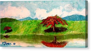 El Lago Canvas Print by Edgar Torres