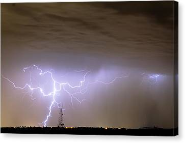 Lightning Decorations Canvas Print - Electric Night by James BO  Insogna