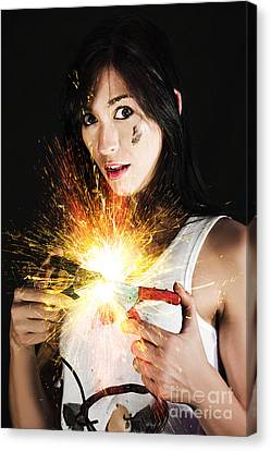 Shock Canvas Print - Electric Shock Power Surge by Jorgo Photography - Wall Art Gallery