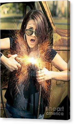 Shock Canvas Print - Electric Shock by Jorgo Photography - Wall Art Gallery
