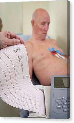 Electrocardiography Test Canvas Print