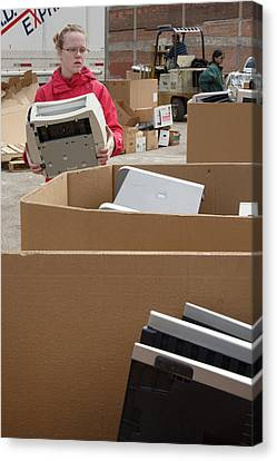 Electronic Waste Collection Canvas Print by Jim West