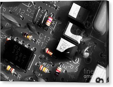 Electronic Component Canvas Print - Electronics 2 by Michael Eingle