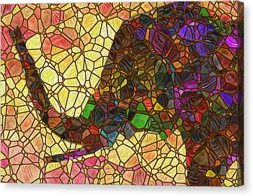 Elephant 2 - Happened At The Zoo Canvas Print by Jack Zulli