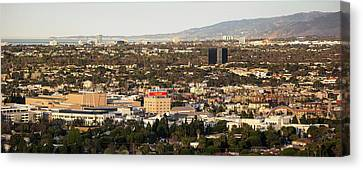 Elevated View Of City, Culver City Canvas Print by Panoramic Images
