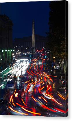 Elevated View Of Traffic On The Road Canvas Print by Panoramic Images