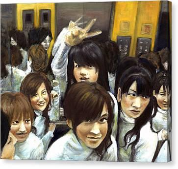 Elevator People People People Canvas Print by Vanessa Baladad