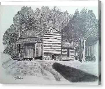 Elijah Oliver Cabin Canvas Print by Tony Clark