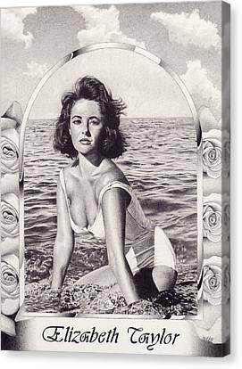 Elizabeth Taylor Canvas Print by Herb Jordan