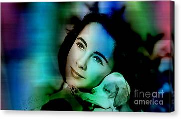 Elizabeth Taylor Canvas Print by Marvin Blaine