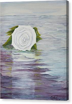 Canvas Print featuring the painting Ellen Of Yorkshire by Cathy Long