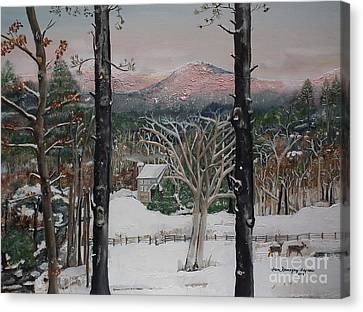 Ellijay - Pink Knob Mountain - Signed Canvas Print