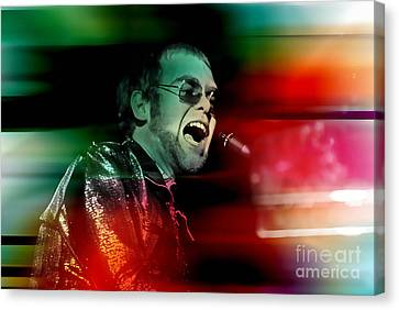 Elton John Canvas Print - Elton John by Marvin Blaine